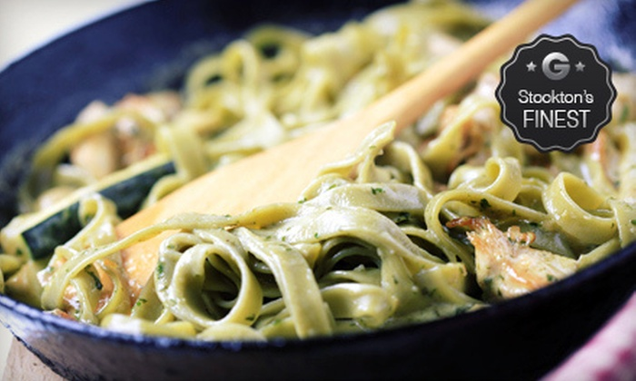 Strings Italian Cafe - Lodi: Three-Course Dinner for Two or $10 for $20 Worth of Italian Cuisine and Drinks at Strings Italian Cafe (Up to 56% Off)