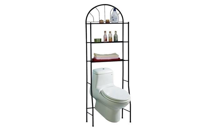 3 shelf over the toilet bathroom space saver 3 shelf over the toilet bathroom space