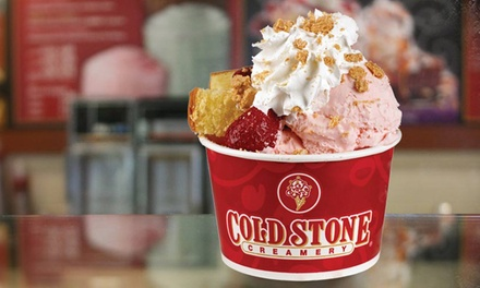 $6.50 for $10 Worth of Ice Cream with Mix-Ins at Cold Stone Creamery
