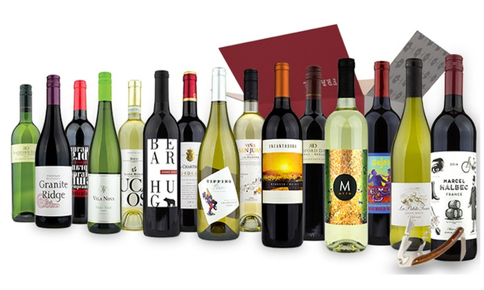 Wine Insiders: 15 Bottles of Premium Wine plus a Deluxe Corkscrew from Wine Insiders ($265.84 Value)