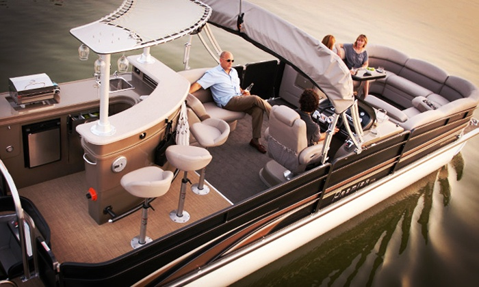 Lakeview Marina - Lake Hopatcong: Half-Day Pontoon-Boat Rental Packages from Lakeview Marina (Up to 48% Off). Four Options Available.
