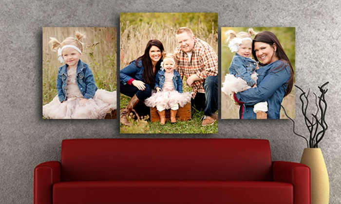 Picture Bungalow: Three-Piece Photo Wall Hanging Sets from Picture Bungalow (Up to 82%). Three Sizes Available.