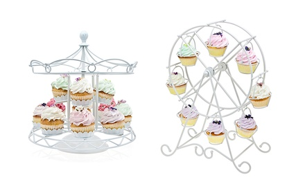 Godinger Ferris Wheel or Carousel Cupcake Holder