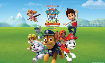 PAW Patrol Live!: Race to the Rescue on Friday, July 6, at 10 a.m. or 2 p.m.