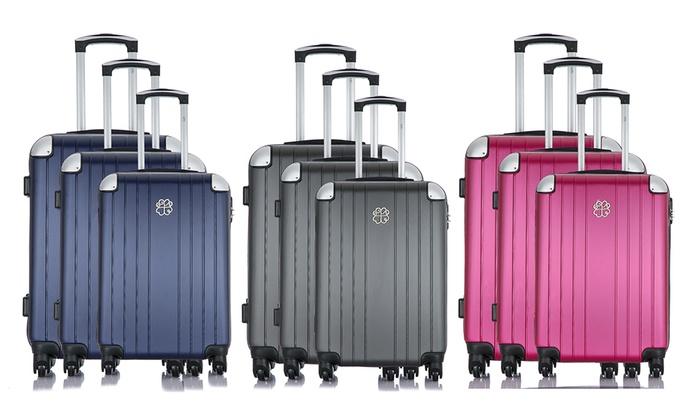 gekke prijs mode stijlen best cool Set of 3 ABS koffers Amélie | Groupon Goods