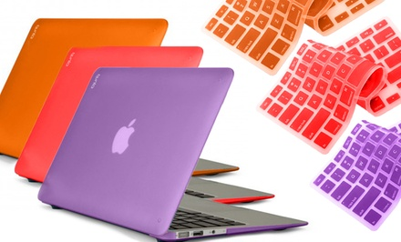Bunta Frosted Macbook Hard-Case Shell with a Silicone Keyboard Cover. Available for Multiple Models. Free Returns.