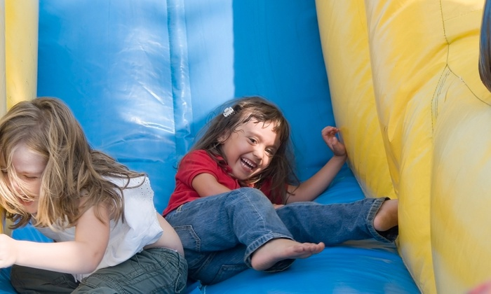 Monkey Joe's - Multiple Locations: Four or Eight Play-Center Visits with Arcade Cards or Birthday Party for Up to 24 at Monkey Joe's (Up to 41% Off)