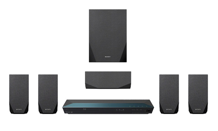 Sony 1 000 Watt 5 1 Channel 3d Blu Ray Home Theater System With Wifi Groupon