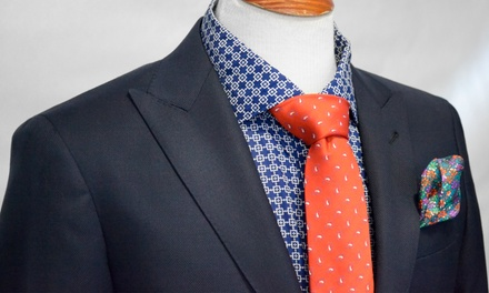 Handmade Two-Piece (£449) or Three-Piece (£549) 120 Wool Suit with Selwyn Lloyd