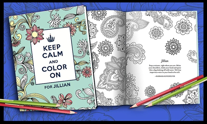 Personalized adult coloring book from put me in the story Personalized coloring books for adults