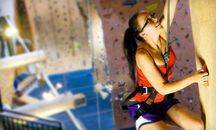 Hangar 18 Indoor Climbing Gyms - Multiple Locations: Indoor Rock Climbing at Hangar 18 Indoor Climbing Gyms (Up to 61% Off). Three Options Available.