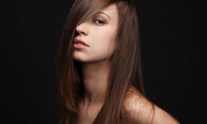 Jaafar Tazi Salon - Greenwich: Haircut with Optional Partial or Full Highlights, or Keratin Treatment at Jaafar Tazi Salon (Up to 70% Off)