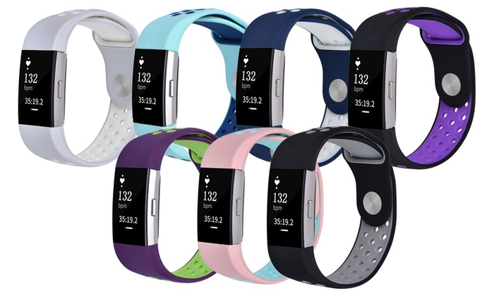Breathable Silicone Bands for Fitbit Charge 2   Groupon