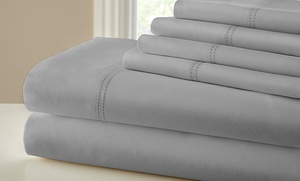 1,000 Thread-count Egyptian Cotton Rich 6-piece Sheet Set. Multiple Options Available.