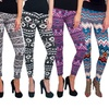 Women's Soft Printed Leggings (6-Pack) (Size L/XL)