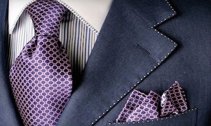 Custom Men - Midtown: Custom-Made Men's or Women's Italian-Cotton Dress Shirt with Optional Monogram at Custom Men (Up to 67% Off)