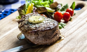 Steak Inn, Watford: Scotch Fillet Steak with Wine for One, Two or Four at Steak Inn, Watford (Up to 53% Off)