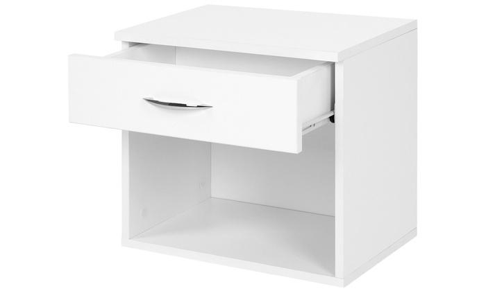 2 tables de chevet en blanc | groupon