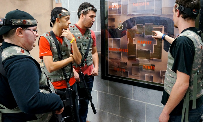 iCOMBAT Waukesha - iCOMBAT Madison: Tactical Laser Tag on Action Movie-Style Sets for One, Two, or Four at iCOMBAT Waukesha (Up to 47% Off)