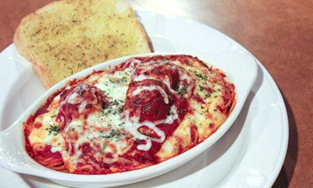 Italian Dinner for Two with Wine or Breakfast, Lunch, or Dinner at Tony M's (Up to 60% Off)