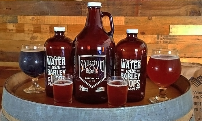 Sanctum Brewing Co. - Pomona: $22 for Two 32-Ounce Growlettes with Two Fills at Sanctum Brewing Co. ($42 Value)