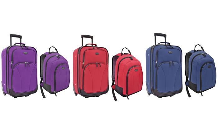 Upright & Backpack Luggage Set | Groupon Goods