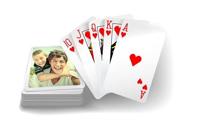 jeux de carte personnalisé Jeux de cartes personnalisés (jusqu'à 75% de réduction)   Groupon
