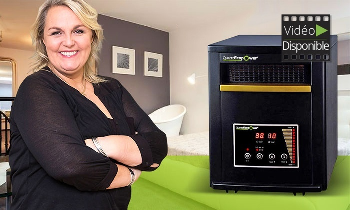 Chauffage mobile tritechnologie Quartzecopower recommand par Valrie Damidot à 11990€ (50% de rduction)