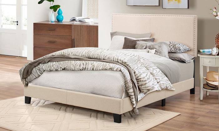 ramon queen size platform bed groupon goods