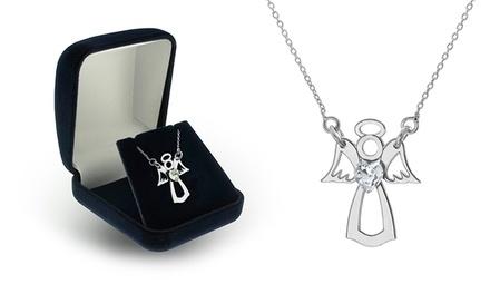 Um ou dois colares Angel com cristal em forma de coração desde 16,99€