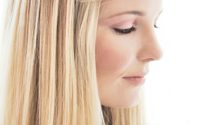 The Twin Salon - Ojus: Haircut with Options for Partial or Full Highlights at The Twin Salon (Up to 54% Off)