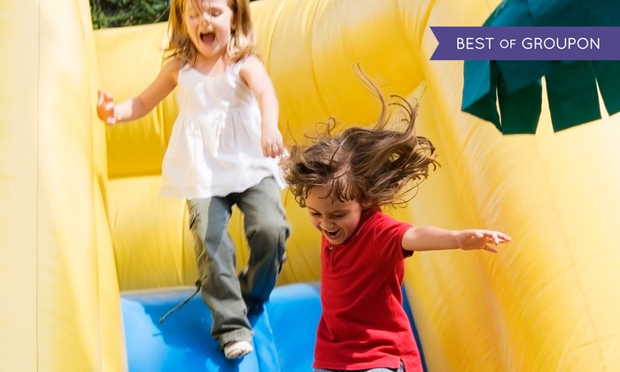 Screamin' Parties - Paramus: $29.99 for Four Two-Hour Bounce Passes and Two Unlimited Simulator Rides at Screamin' Parties ($62 Value)