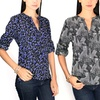 Women's Printed Pull-Over Blouse