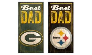 NFL Best Dad Sign: NFL Best Dad Sign