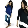 Women's Asymmetrical Top with Contrast Trim