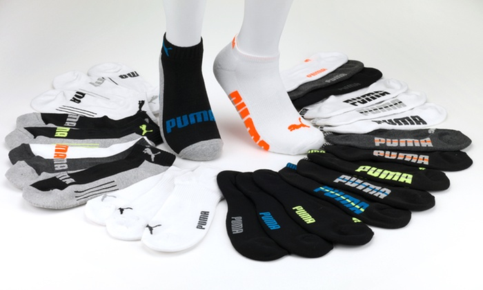 9-Pack of Puma Men's Socks: $17.99 for a 9-Pack of Puma Men's Socks in Low Cut, Low Quarter, or No Show ($36 List Price). Free Shipping.