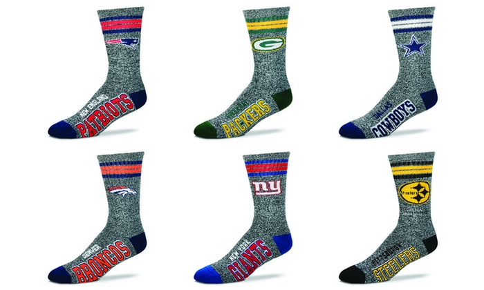de9518dc Got Marbled Unisex Crew Socks with NFL Team Logo | Groupon