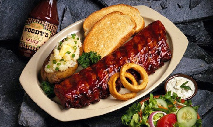 Woody's Bar B Q - Warminster: Barbecue Dinner Food at Woody's Bar B Q (Up to 56% Off). Two Options Available.