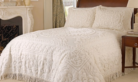 Medallion Chenille 3-Piece Bedspread Set