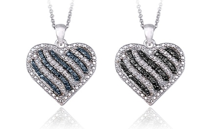 0.50 CTTW Diamond Heart Pendants