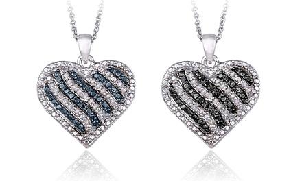 0.50 CTTW Diamond Heart Pendants