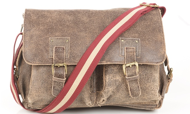 Groupon Goods Global GmbH: Leather Man Bag by Denning ...