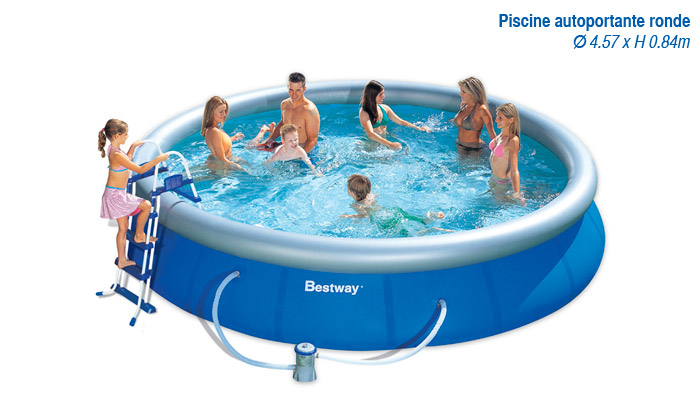 Piscines bestway groupon shopping for Piscine tubulaire ovale 4 88 x 3 05 x 1 07 m