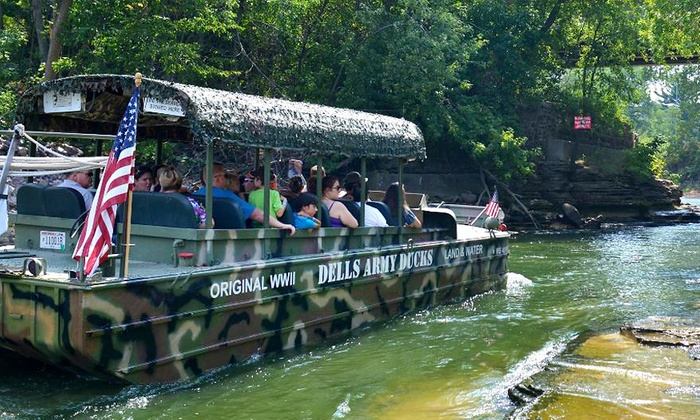 Dells Army Duck Tour - Wisconsin Dells: Amphibious Tour for Two or Four from Dells Army Duck Tour (Up to 38% Off)