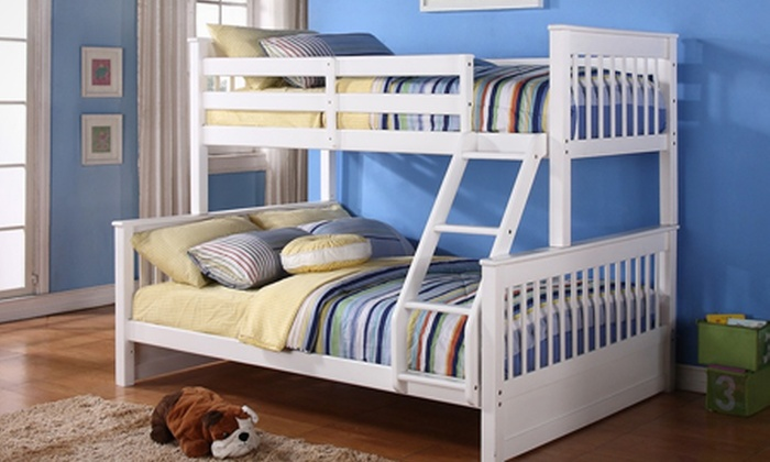 100% authentic 45c9b 07fc2 Wooden Triple-Sleeper Bunk Bed Frame (£199.94) With Mattresses (£349.94)  With Free Delivery (65% Off)
