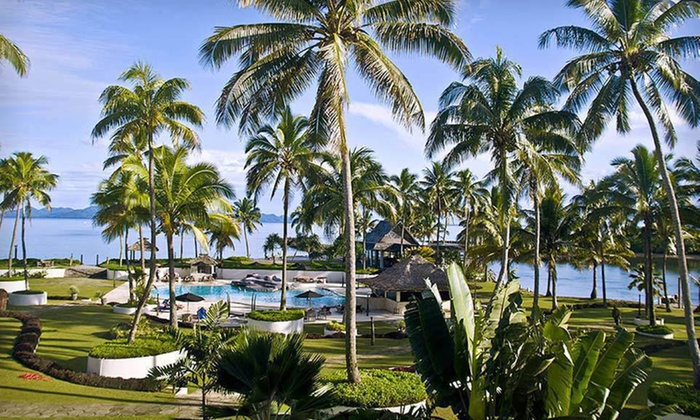 Five- or Seven-Night Fiji Resort Stay - Raffles Gateway Hotel: 5- or 7-Night Stay at Pearl South Pacific Resort in Fiji with Airfare, Golf, and Daily Breakfast from PacificIslands.com