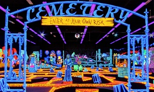 Monster Mini Golf and Laser Tag: $18 for Four Rounds of Mini Golf on a Black-Lit Course at Monster Mini Golf and Laser Tag ($36 Value)