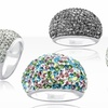 Crystal-Studded Cocktail Rings