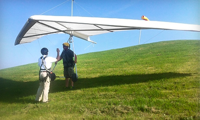 Scooter Tow Hang Gliding School - Gutzmers Twin Oaks Airport: 45-Minute Mini-Hill Hang-Gliding Experience for One or Two at Scooter Tow Hang Gliding School (Up to 51% Off)