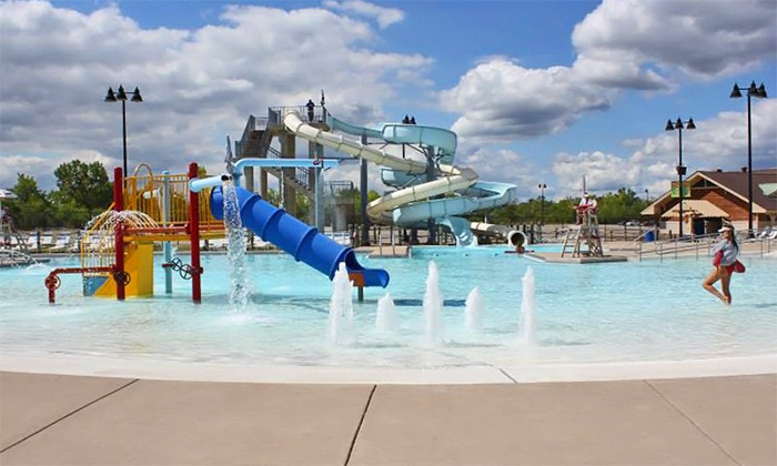 Joliet Park District - Joliet: One Adult or Two Children's Visits to Splash Station Waterpark in Joliet (46% Off)